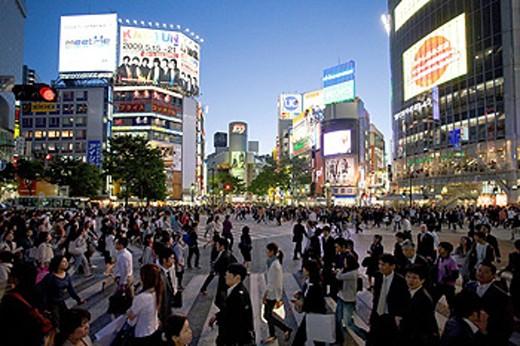 Stock Photo: 1597-60520 Japan, Tokyo City, Shibuya District,