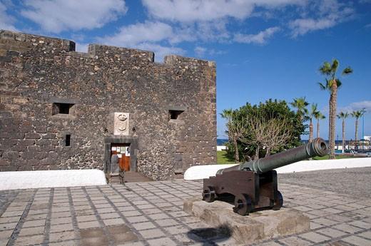 Castillo de San Felipe, Puerto de la Cruz, Teneriffa, Kanarische Inseln, Spanien, Europa : Stock Photo