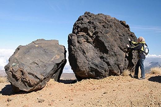 Stock Photo: 1597-60730 erkaltete Lavaformationen genannt die Eier des Teide, Teide_Nationalpark, Teneriffa, Kanarische Inseln, Spanien, Europa