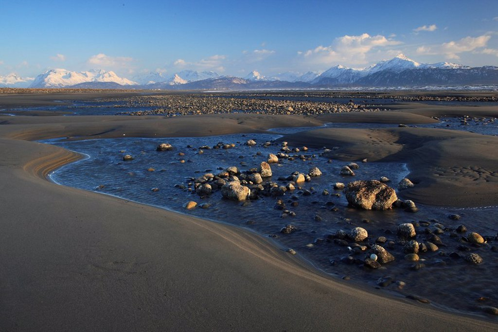 Stock Photo: 1597-61047 Kachemak Bay, Homer,Kenai Halbinsel, Homer Spit, Alaska, USA