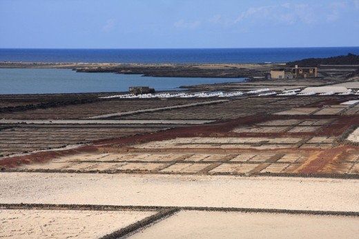 Lanzarote island, Spain, Europe, Canary islands, Salinas de Janubio, travel, volcanism, volcanic Landscape, scenery, s : Stock Photo