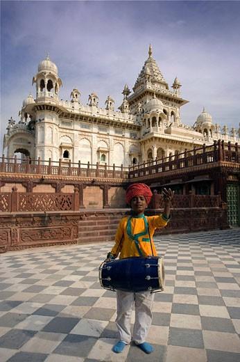 India, State of Rajasthan, Jodhpur city, Meherangarh Fort, Jaswant Thada Monument, Asia, travel, January 2008, archite : Stock Photo
