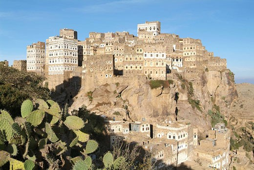 Stock Photo: 1597-62952 Yemen, Al_Hajjarah, Al_Hajarah, Haraz mountains, mountain, Arabic, Arabian, Arab, travel, architecture, historic, towe