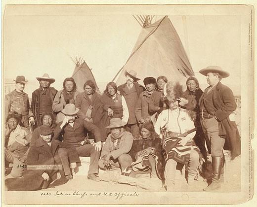 Indians, Indian Camp, army, John Grabill, ca 1890, Pine Ridge, South Dakota, war, John Grabill ca. 1890, wild west, Un : Stock Photo