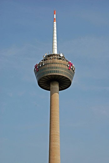 Colonius, Cologne, Germany, Europe, observation tower, German, radio tower, revolving restaurant, DSL, company logo, m : Stock Photo
