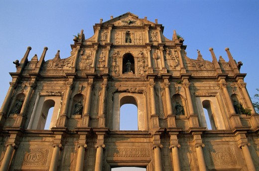 Asia, China, Asia, Macau city, Macao, St. Paul Church, St Pauls Church, Sao Paulo, Church, Cathedral, Catholic, Religi : Stock Photo