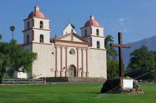 Stock Photo: 1597-67776  Usa, Santa Barbara, California, Mission
