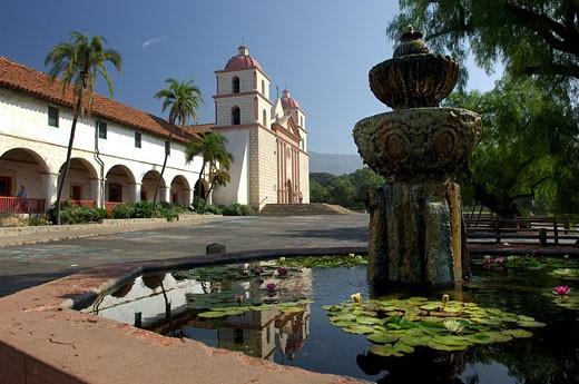 Usa, Santa Barbara, California, Mission : Stock Photo