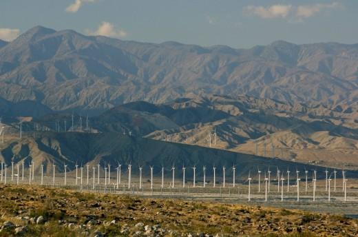 Usa, Palm Springs, California, Panorama, : Stock Photo