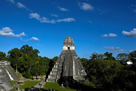 Tempel 1, Tikal National Park, Nationalp : Stock Photo