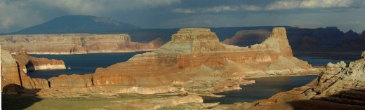 Stock Photo: 1597-68070  Usa, Page, Utah, View From Alstrom Point