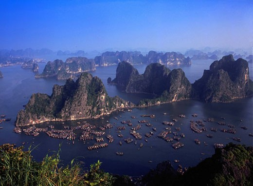 Stock Photo: 1597-69442  Asia, North Vietnam, Ha Long bay, aerial