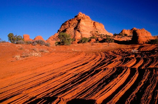 mornings, Arizona, bizarre, blue, sky, erosion, Horizontal, scenery, monolith, morning, light, physical miracle, par : Stock Photo