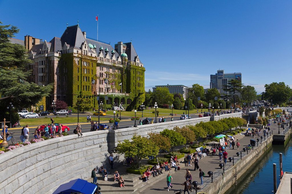 Stock Photo: 1597-72025  Empress Hotel, Inner Harbour, Inner Harb