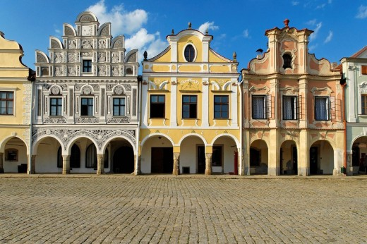 Stock Photo: 1597-72261  historical, Old Town, Telc, Unesco world