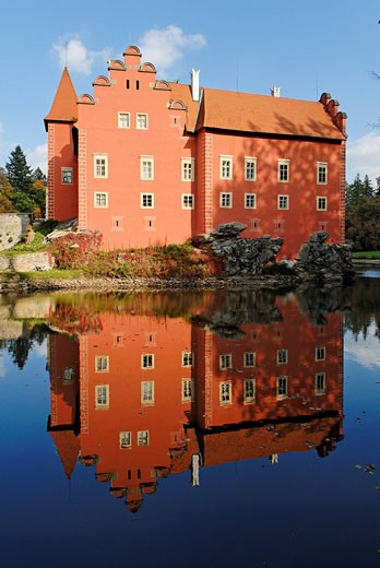 Stock Photo: 1597-72287  Moated castle Cervena Lhota, south Bohem
