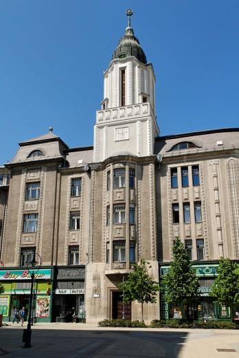 historical, facade, Old Town, Debrecen, : Stock Photo