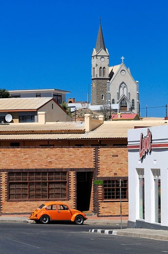 Church, Luderitz, Karas Region, Namibia, Africa, Travel, Nature : Stock Photo