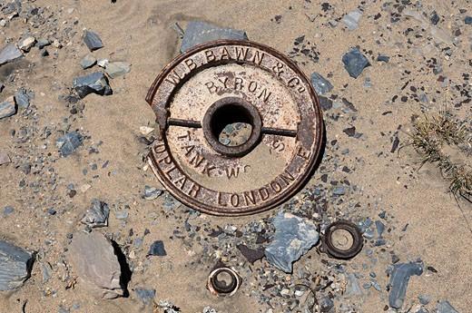 Mining, remains, sperrgebiet, Prohibited Area, Diamond Area 1, Luderitz, Karas Region, Namibia, Africa, Travel, Nature : Stock Photo