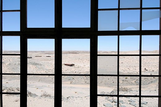 Old mining mining buildings, Sperrgebiet, Prohibited Area, Diamond Area 1, Luderitz, Karas Region, Namibia, Africa, Travel, Nature : Stock Photo