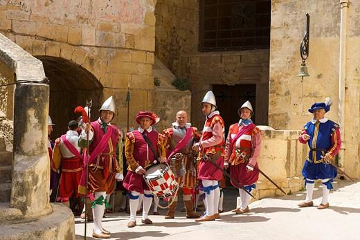 Stock Photo: 1597-79342 In_Guardia_Parade im Fort St.Elmo, Valletta, Malta