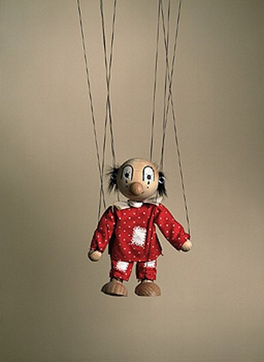 Stock Photo: 1597-7976  threads, fathoms, hang, puppet, doll, studio,