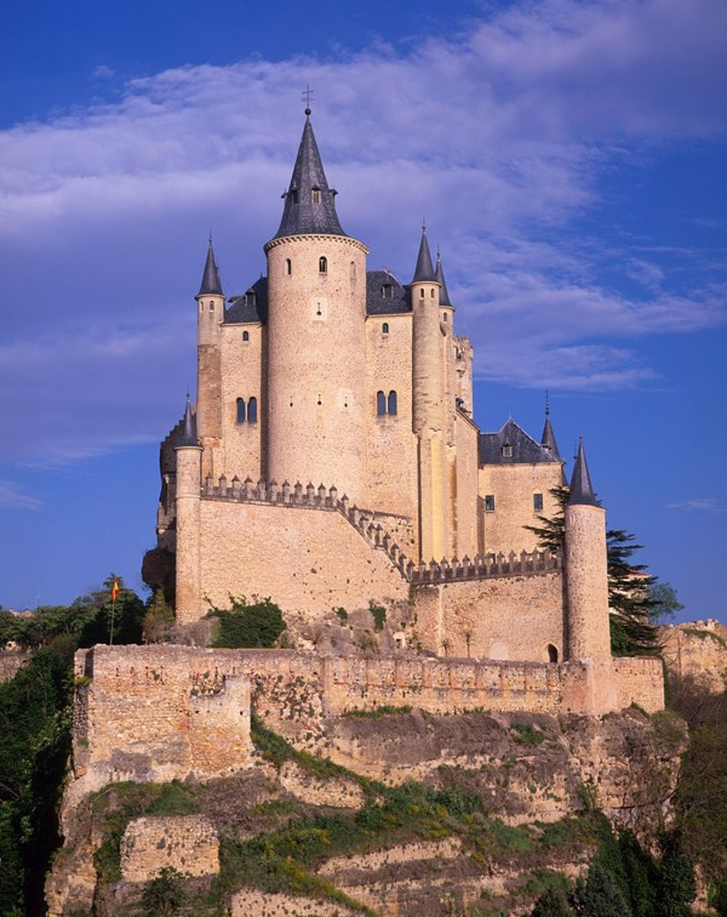 Stock Photo: 1597-80106 Alcazar, Segovia, Castile Leon, Spain