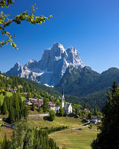 Italy, Alps, Veneto, Dolomites, Cadore, hill, wood, forest, meadows, Pelmo, holidays, travel, : Stock Photo
