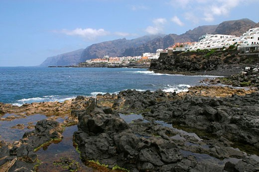 Europe, Spain, Canary Islands, Tenerife, Los Gigantes, Atlantic ocean, sea, Volcanic Island : Stock Photo