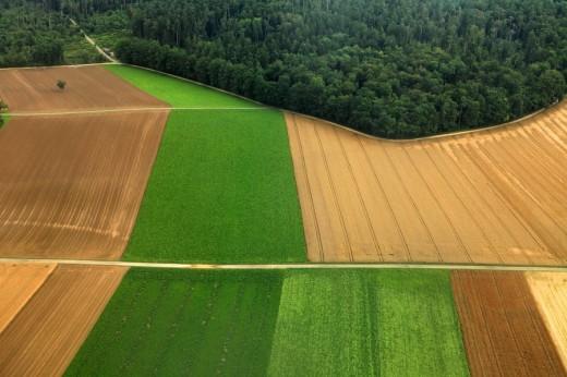 Landschaft von oben : Stock Photo
