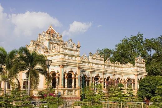 Vinh Trang Pagode, My Tho, Mekongdelta, Vietnam, Asien : Stock Photo