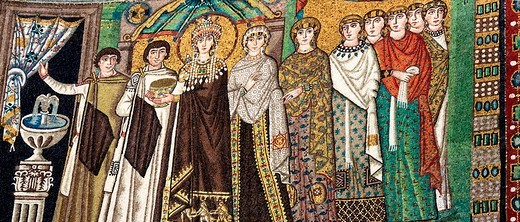 Stock Photo: 1597-85909 Mosaic, San Vitale, UNESCO World Heritage site, Ravenna, Emilia_Romagna, Italy