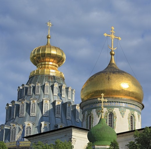 Resurrection cathedral, 1685, New Jerusalem monastery, Istra, Moscow region, Russia : Stock Photo