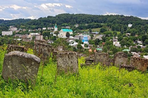Stock Photo: 1597-86273 Old Jewish cemetery, Kremenets, Ternopil oblast, Ukraine