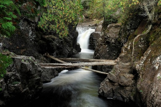 Stock Photo: 1597-86987 Cascade Falls, Cascade River State Park, North Shore, Minnesota, USA