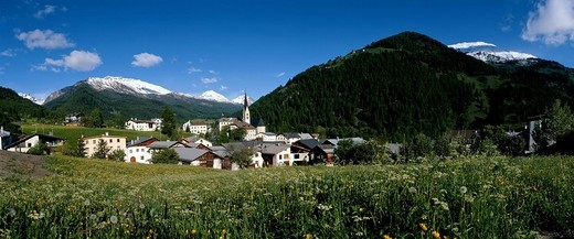 St. Maria im Val Müstair GR : Stock Photo