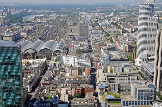 Innenstadt mit Hauptbahnhof, Frankfurt am Main, Hessen, Deutschland, Europa : Stock Photo