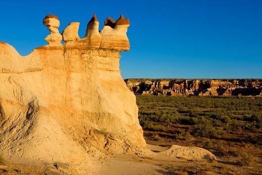 Blue Canyon, USA, Amerika, Vereinigte Staaten, Arizona, Badlands, Erosion, Felsen, Felsskulptur, Sandstein, Hoodoos : Stock Photo