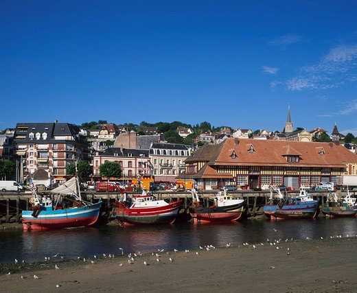 Stock Photo: 1597-90790 Fishing Port and market, Trouville, Normandy, Calvados, France