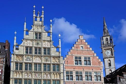 Stock Photo: 1597-90977 Houses at Graslei riverside, Ghent, Belgium