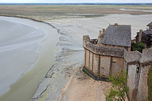 Mont Saint_Michel, Manche department, Lower Normandy, France : Stock Photo