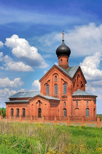Dormition church, 1904, Nikulskoe, near Kolomna, Moscow region, Russia : Stock Photo