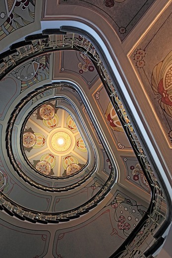 Stock Photo: 1597-92153 Staircase in Art Nouveau house, Riga, Latvia