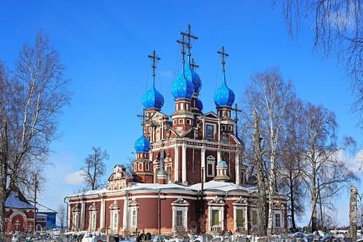 Stock Photo: 1597-92292 Church of Kazan icon of Our Lady, 1694, Ustyuzhna, Vologda region, Russia