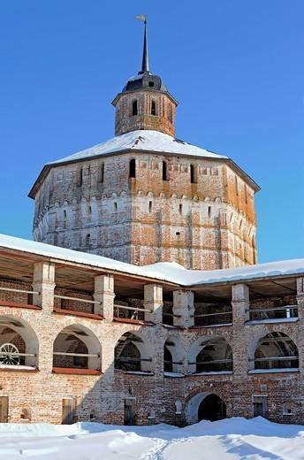 Stock Photo: 1597-92404 Towers of Kirillo_Belozersky Monastery, Kirillov, Vologda region, Russia