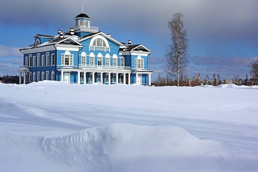 Estate house, 1800s, Gorka Galskikh, Cherepovets, Vologda region, Russia : Stock Photo