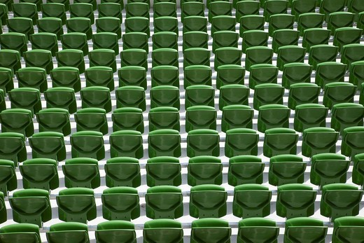 Republic of Ireland, Dublin, Seating in The Aviva Stadium : Stock Photo