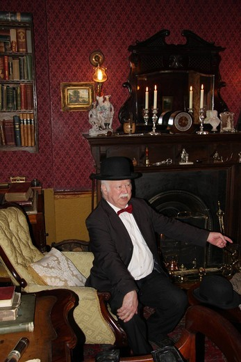 Great Britain, England, UK, United Kingdom, London, travel, tourism, Sherlock Holmes museum, museum, inside, 19_th century, room, Dr. Watson : Stock Photo