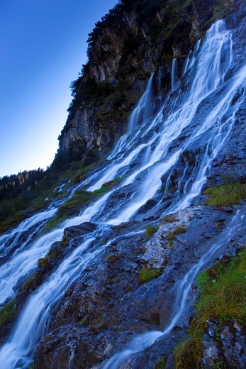 Stock Photo: 1597-96389 Jungibäche, Switzerland, canton Bern, Bernese Oberland, Gental, brooks, springs, sources, waterfalls, cliff wall