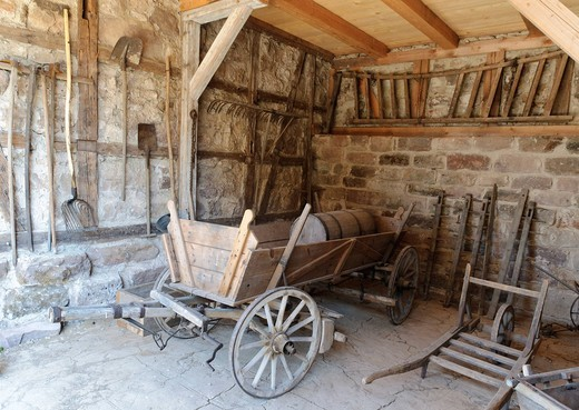 Stock Photo: 1597-97039 old, architecture, inside, inside view, indoor photograph, farmhouse, building, FRG, federal republic, German, Germany, European, Europe, open air, museum, open_air museum, building, construction, history, story, historical, house, home, historical, court